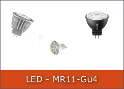 LED-Pære MR11 12V GU4