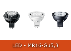 LED-Pære MR16 12V GU5,3